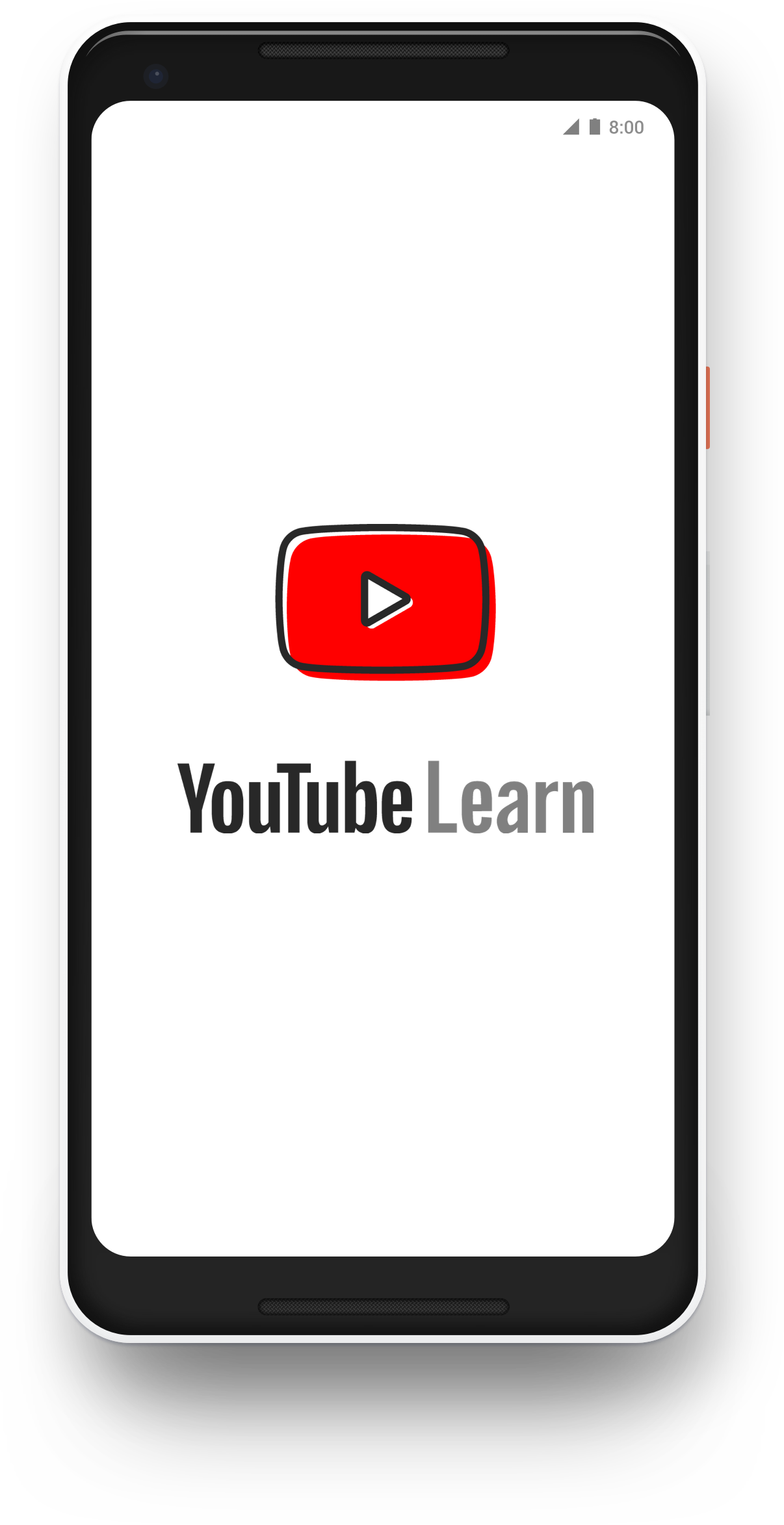 YouTube Learn Home Screen